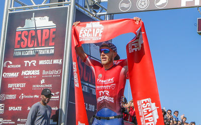 Olympian Ben Kanute Defends His Title And Wins 2018 Escape From Alcatraz Triathlon